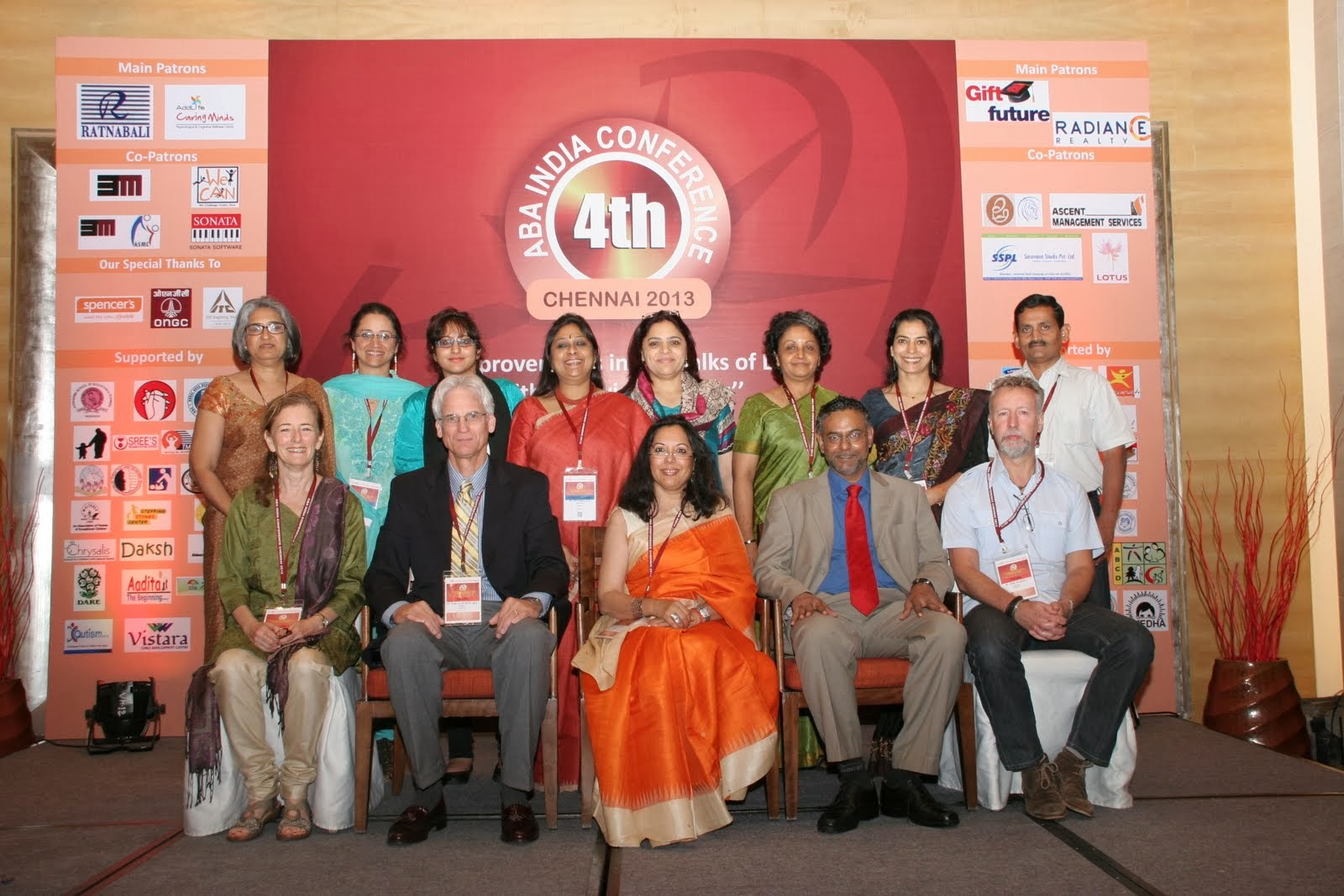 Dr. Bill Hewards Dr. NEil MArtin DR. Rebecca Ward with ABA India Team at annual conference 2013