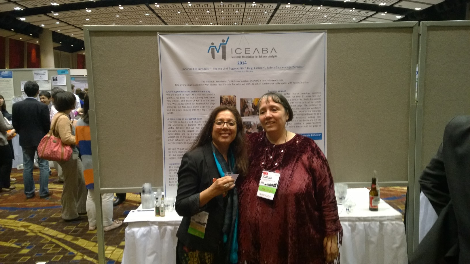 With Gabriela ABAI 2014  Chicago -Posters